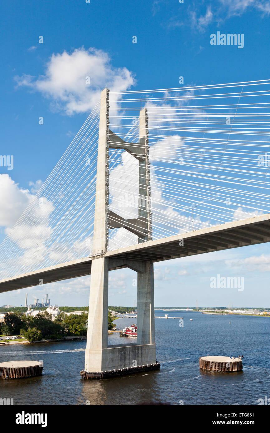 Dames Punkt Schrägseilbrücke über den St. Johns River in Jacksonville, FL Stockbild