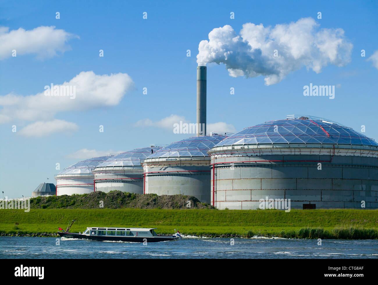 Biogas-Kraftwerk Stockbild