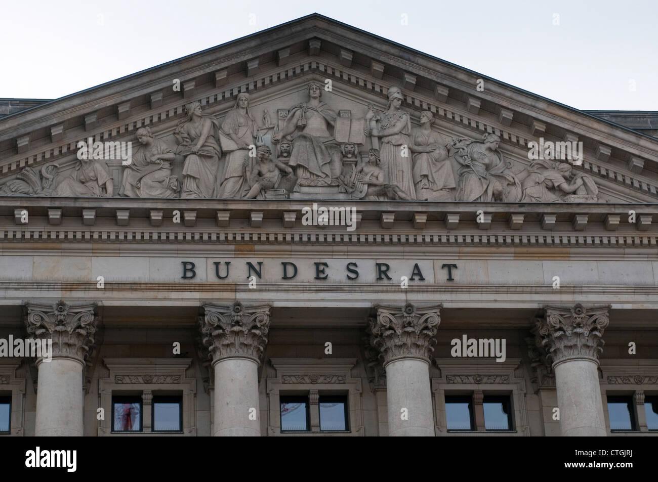 Der deutsche Bundesrat - Bundesrat. Berlin Stockbild