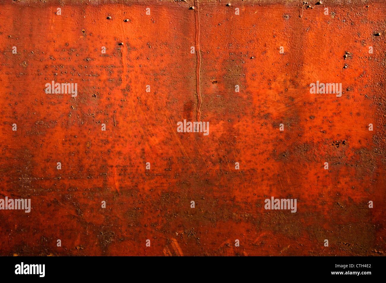 rotem rostigen Metall Stockbild