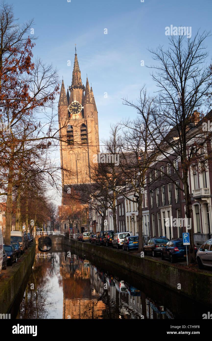 Die Niederlande, Delft, alte Kirche. Stockfoto