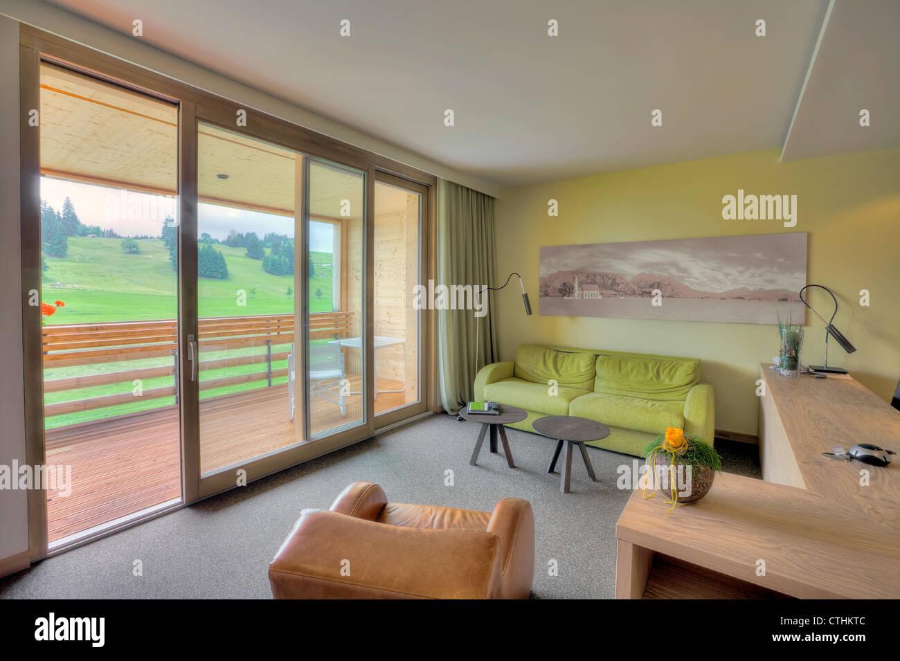 Schones Wohnzimmer In Kaufmann Hotel Bayern Stockfoto Bild