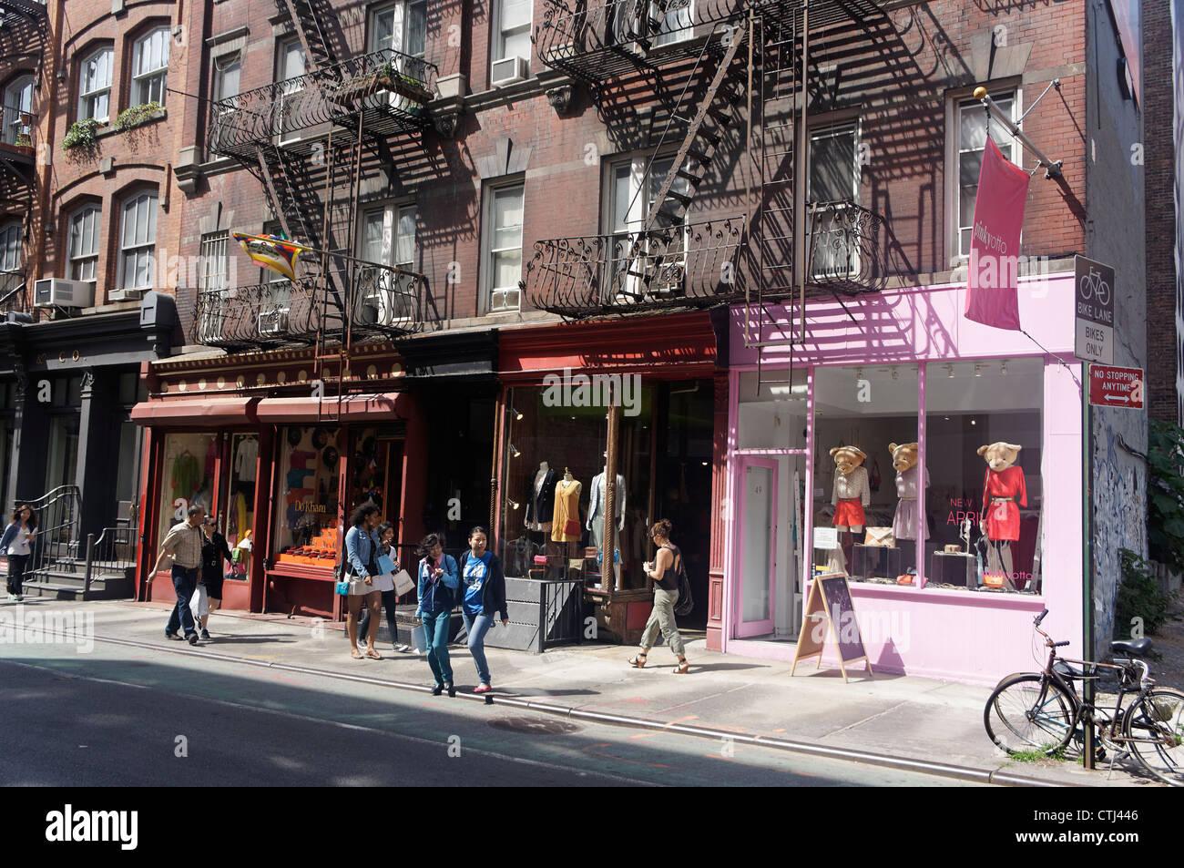 Cast Iron District, Soho, New York Stockbild