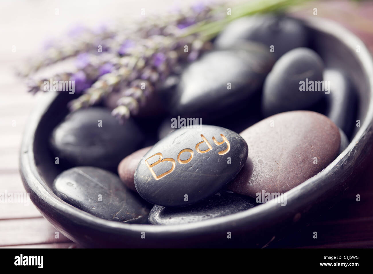 Hot Stone Stockbild