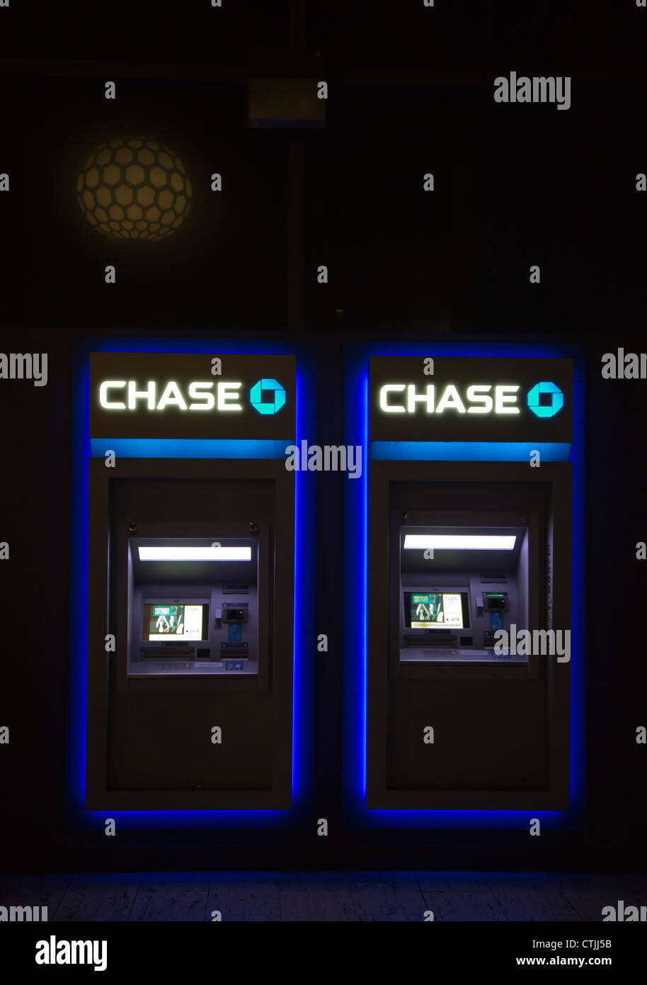 Los Angeles, Kalifornien - Chase Bank Geldautomaten. Stockbild