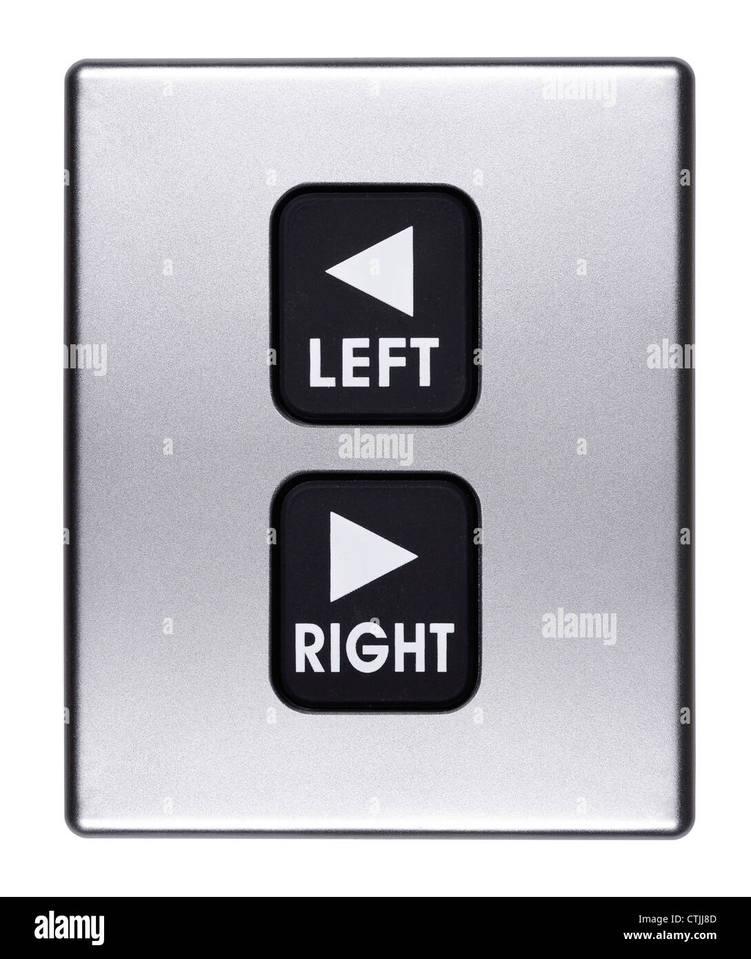 Links und rechts Tasten Stockbild