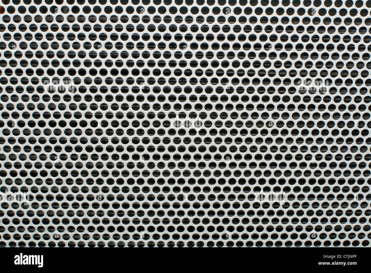 Nahaufnahme eines Metalls graue strukturierte Gitter Stockbild
