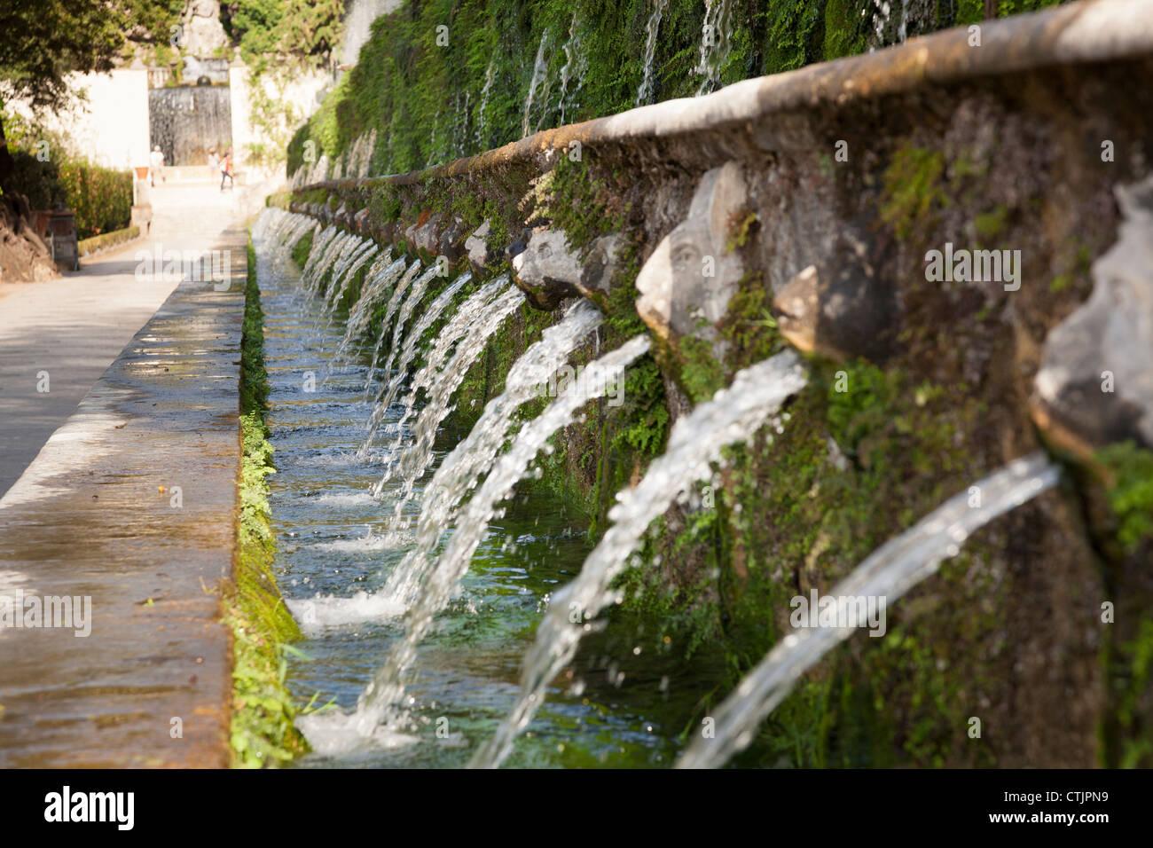 Fontane Brunnen.Le Cento Fontane Der Hundert Brunnen In Villa D Este