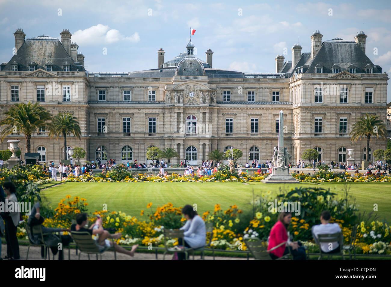 Paris,France.Luxembourg Garten, le Senat. Stockbild