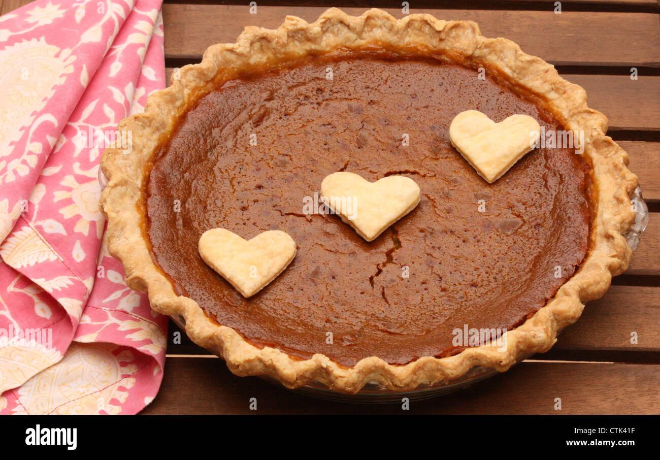 Hausgemachte Kürbis-Kuchen! Stockbild
