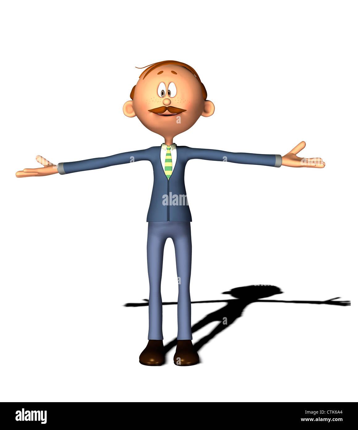Cartoon Figur Mann Stockfoto
