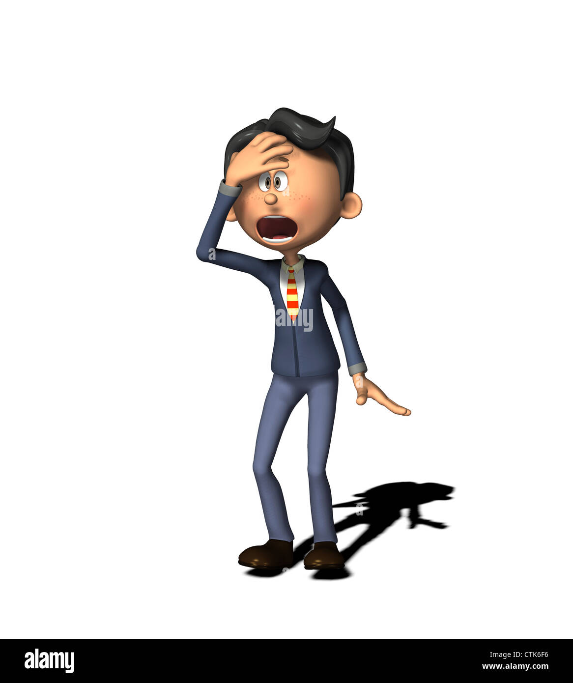 Cartoon-Figur-Business-Mann Stockfoto