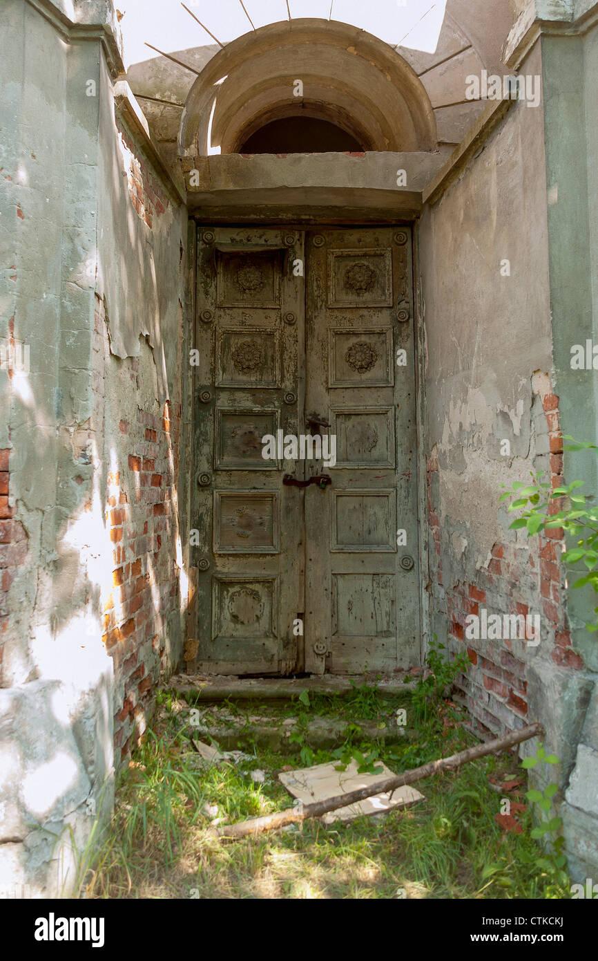 Der tur  Verschlechterung der Tür in Modlin Festung (Twierdza Modlin) in ...