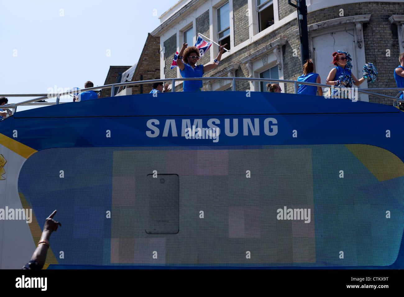 Samsung Olympia Sponsor Stockbild