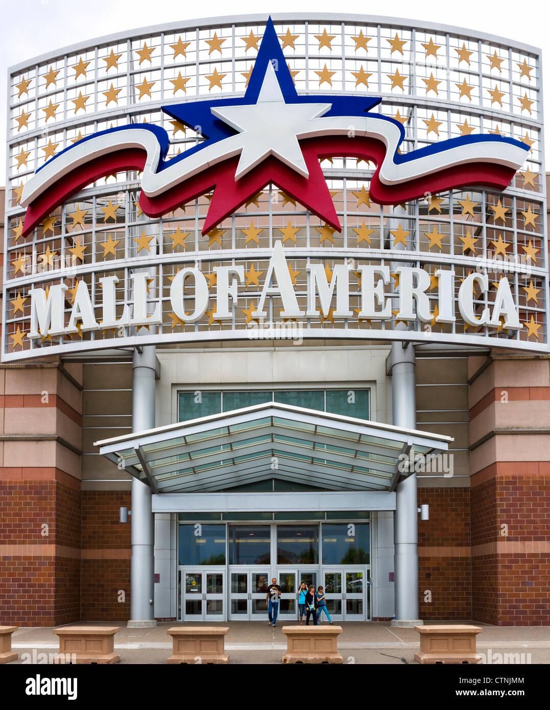 Eingang der Mall of America in Bloomington, Minneapolis, Minnesota, USA Stockbild