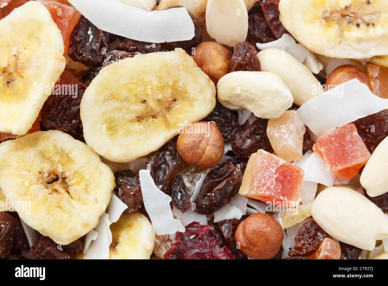 Mischung Von Nssen Und Trockenfrchten Stck Gesunde High Energy Snack Up Close