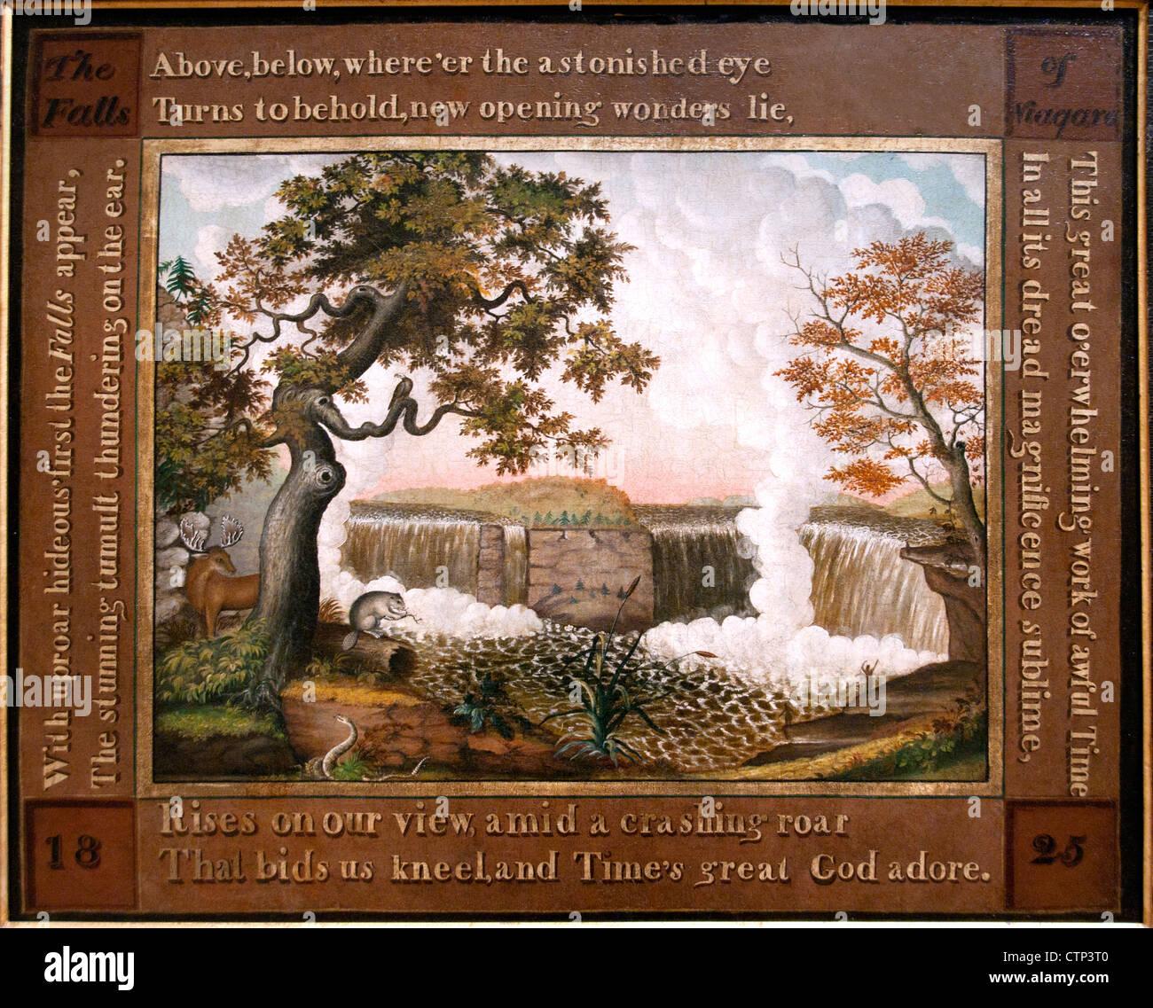 Die Wasserfälle von Niagara 1825 Edward Hicks US Vereinigte Staaten von Amerika Stockbild