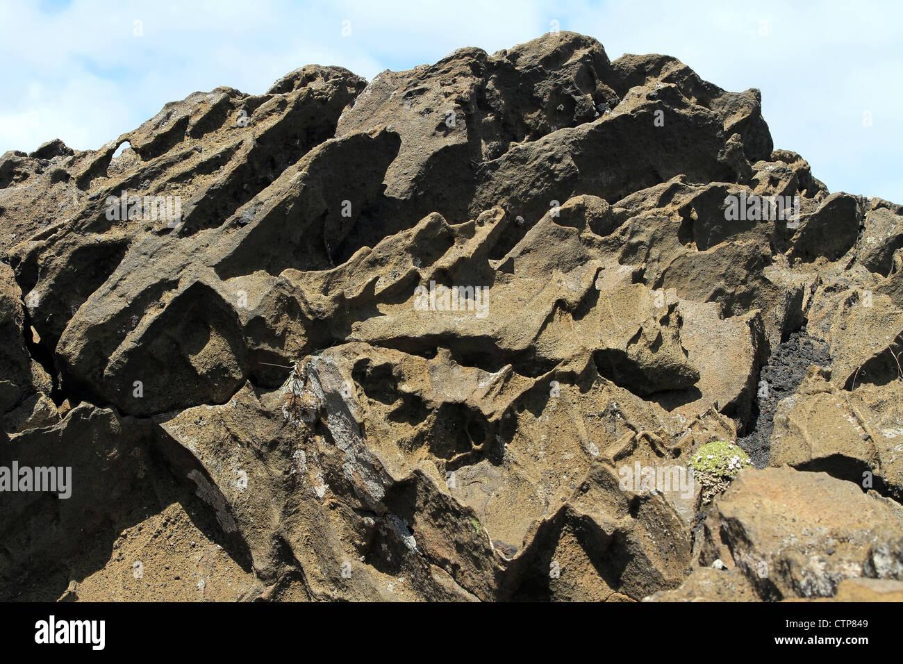 Vulkangestein in der Nähe von Vik, Island Stockbild