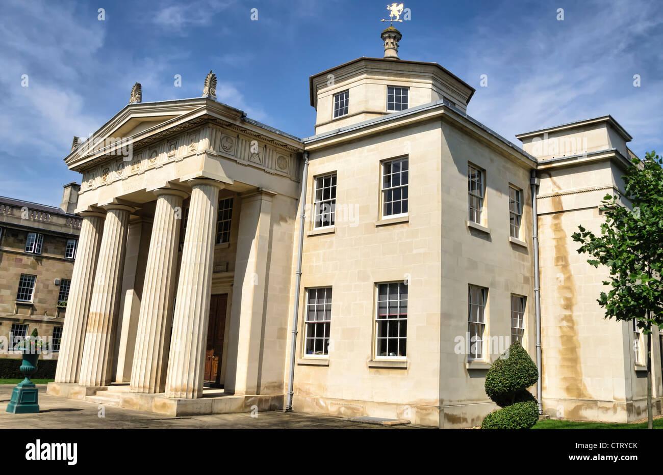 Downing College in Cambridge, UK Stockbild