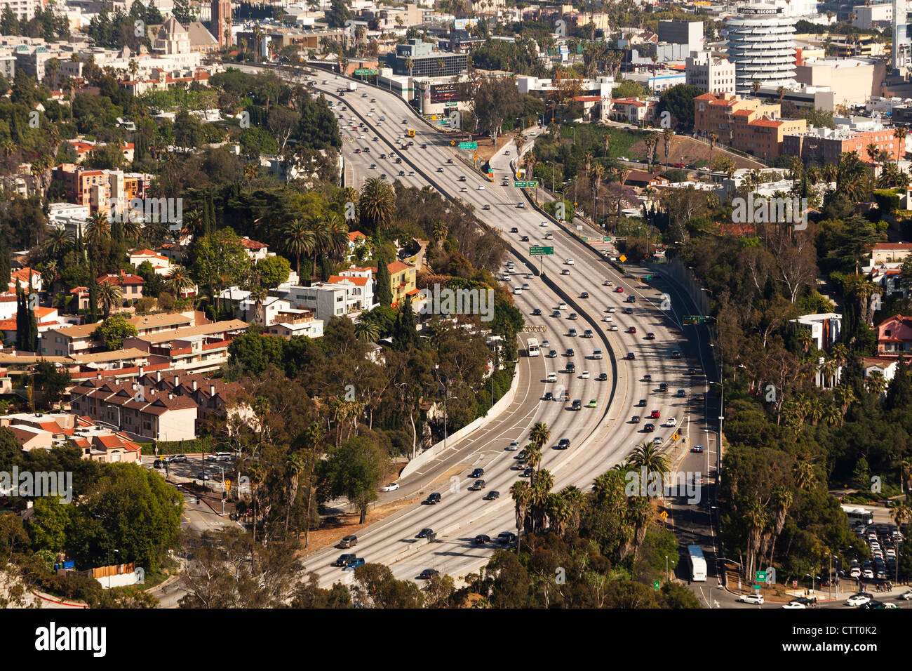 Hollywood Freeway LA Stockbild