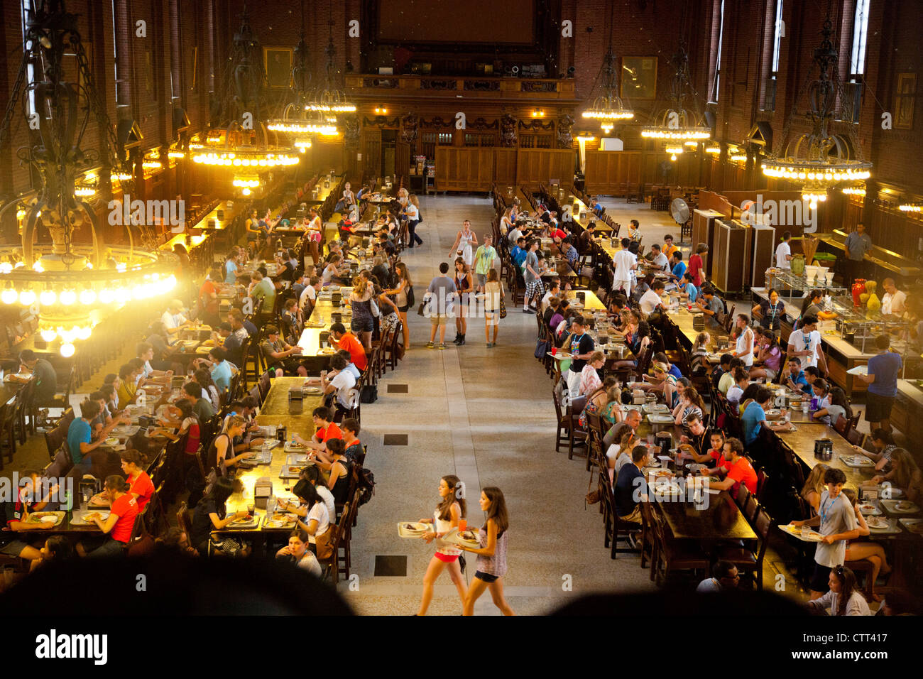 Speisesaal An Der Yale University In New Haven Ct Stockfoto Bild