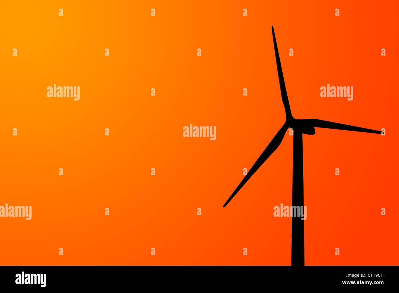 einzelnen Windenergieanlage Stockbild
