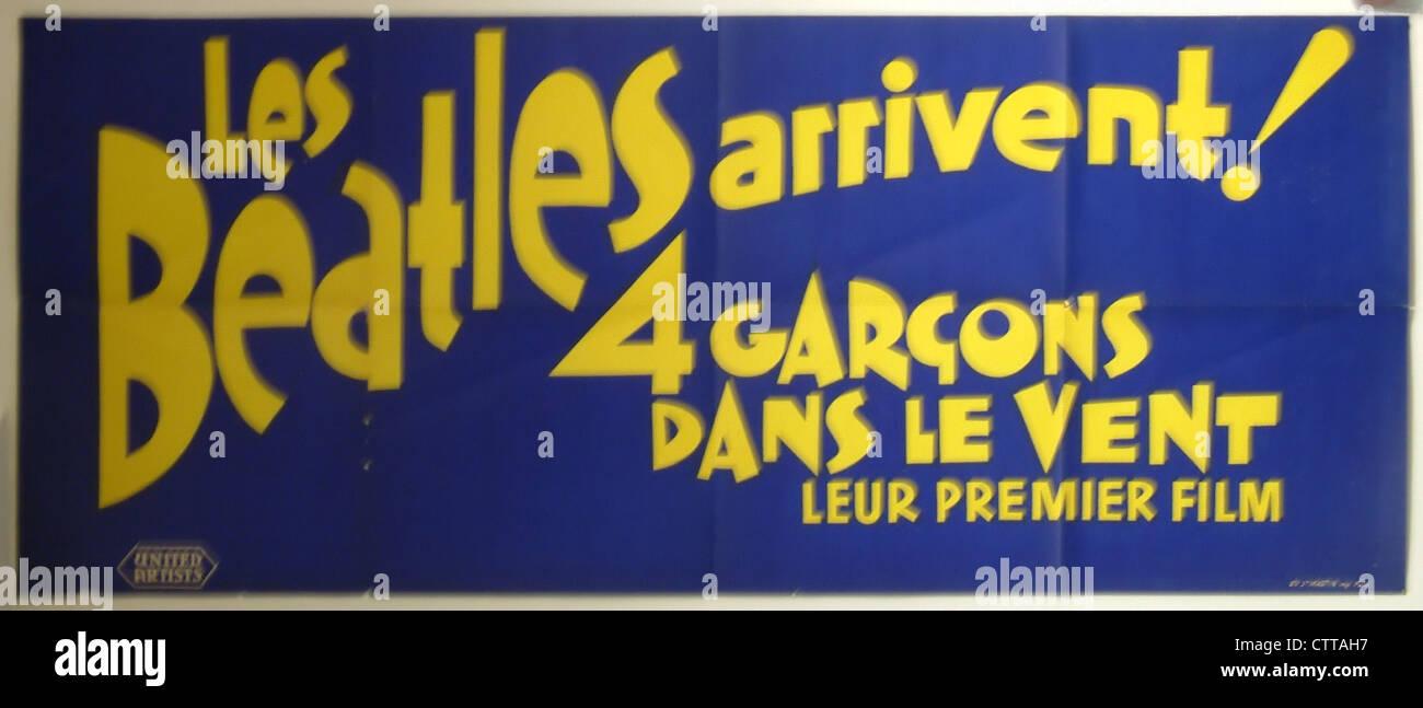000945 - die Beatles 1964 Französisch harte Tage Nacht Filmposter Stockfoto