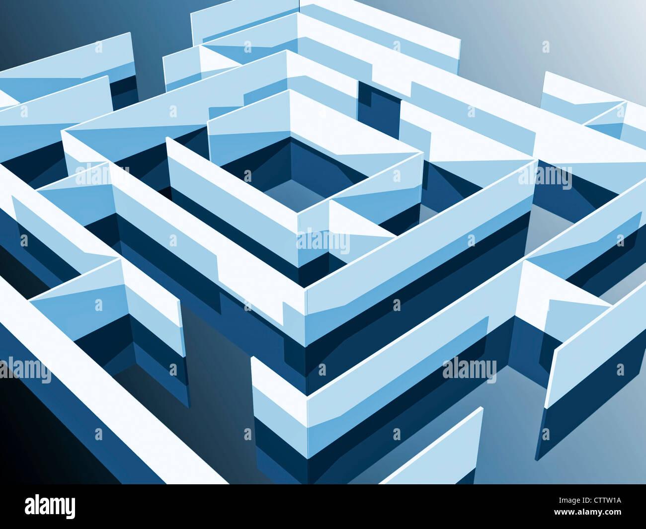 Labyrinth-Faktoren Stockbild