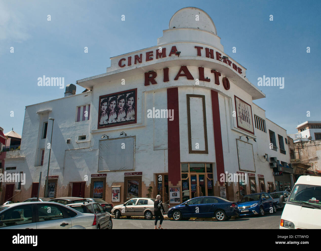 Deco Architektur rialto kino klassische deco architektur in casablanca marokko