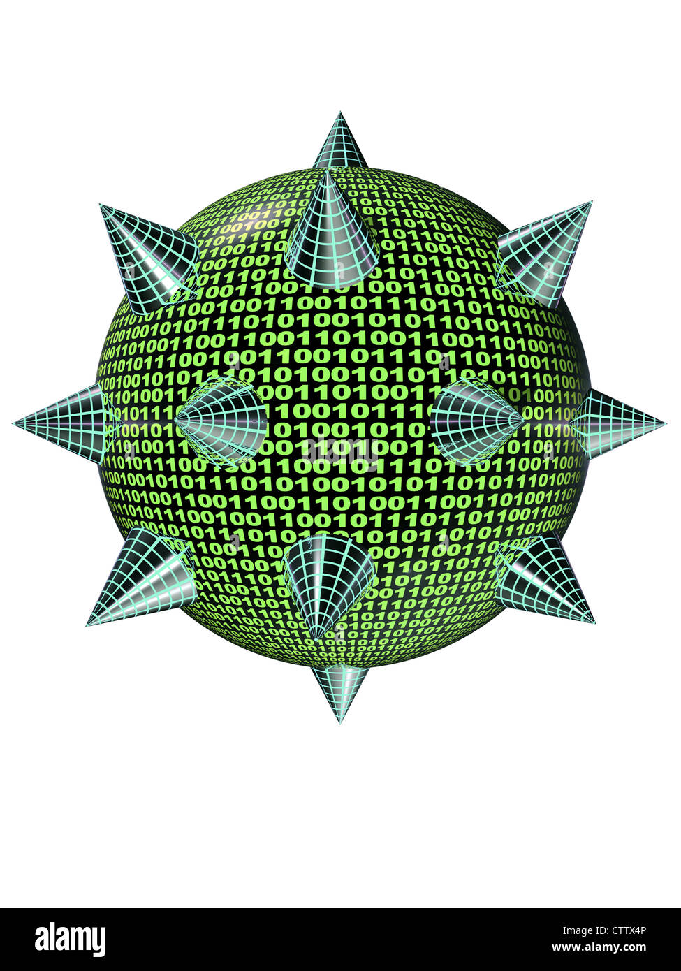 Virus-3D / Computervirus Stockbild