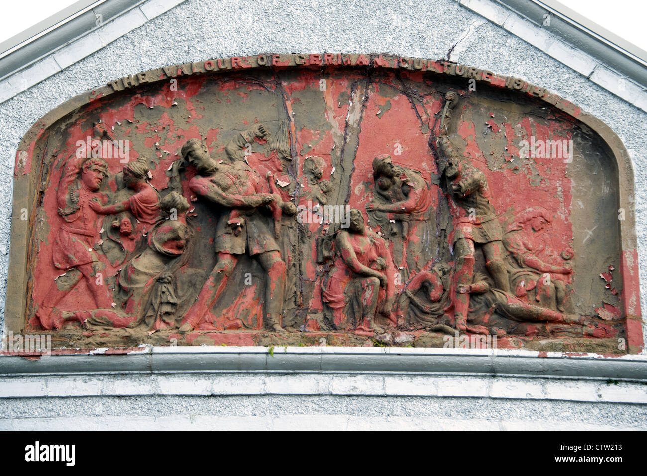 Das Kultur-Panel.  Die Verdienste der deutschen Kultur 1914. Stockbild
