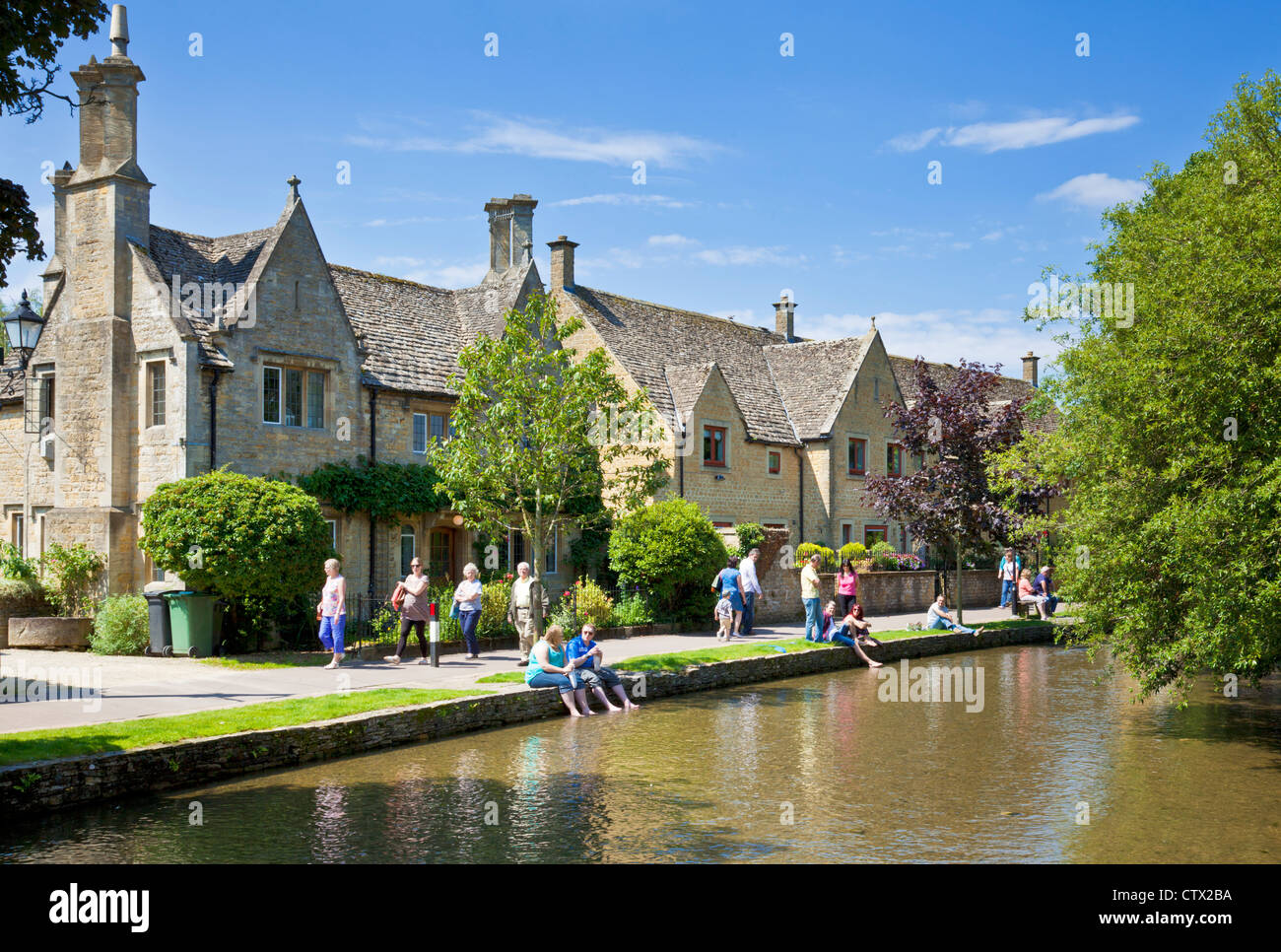 Bourton auf Wasser Cotswolds Gloucestershire England UK GB EU Europa Stockbild