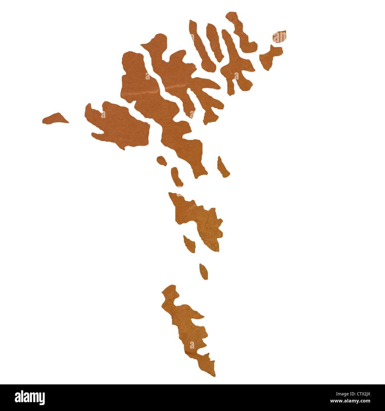Färöer Inseln Karte.Strukturierte Karte Von Färöer Inseln Karte Mit Braunen Felsen Oder