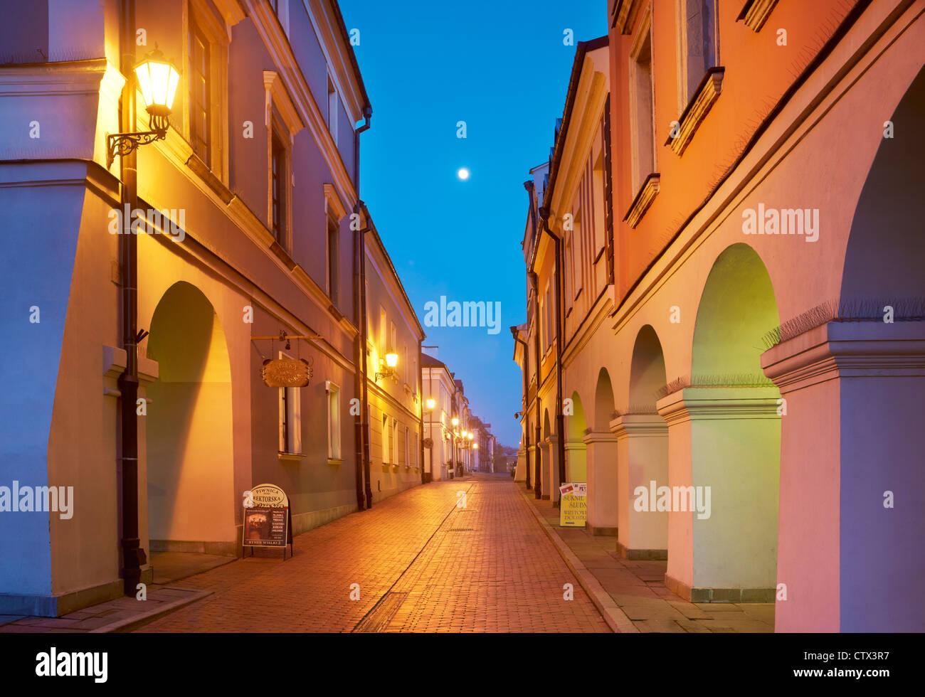 Zamosc, historische Häuser auf dem alten Markt, Unesco, Polen, Europa Stockbild