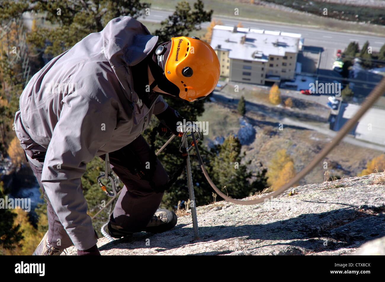 Klettersteig La Resgia : Bergsteiger auf la resgia ein klettersteig in pontresina engadin