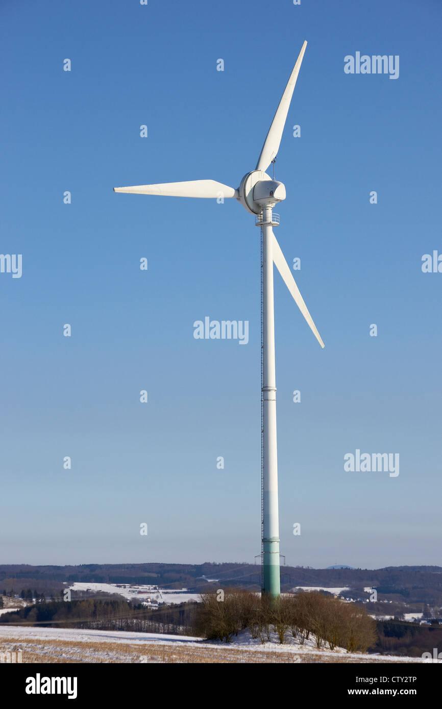 Windmühle für die Energieproduktion in den West Wald Stockbild