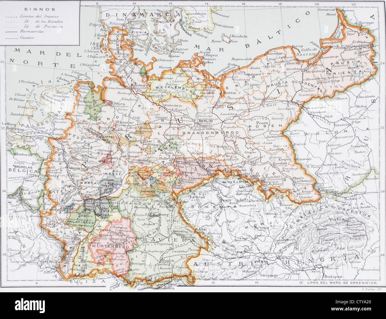 Deutsche Karte Vor Dem 1 Weltkrieg.Deutschland Karte Stockfotos Deutschland Karte Bilder Alamy