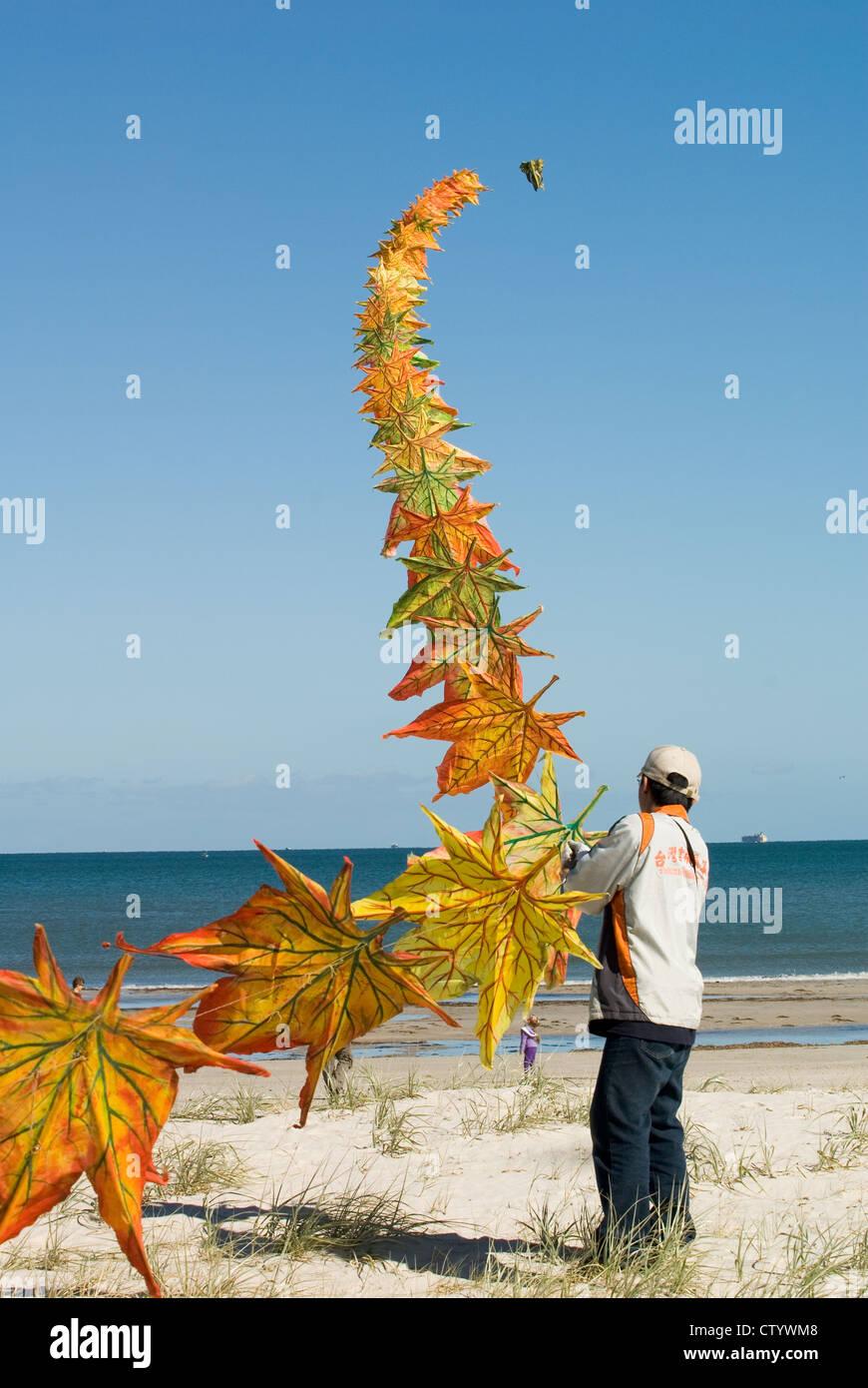 Adelaide Kite Festival findet jährlich, Semaphor Beach, South Australia. Stockbild