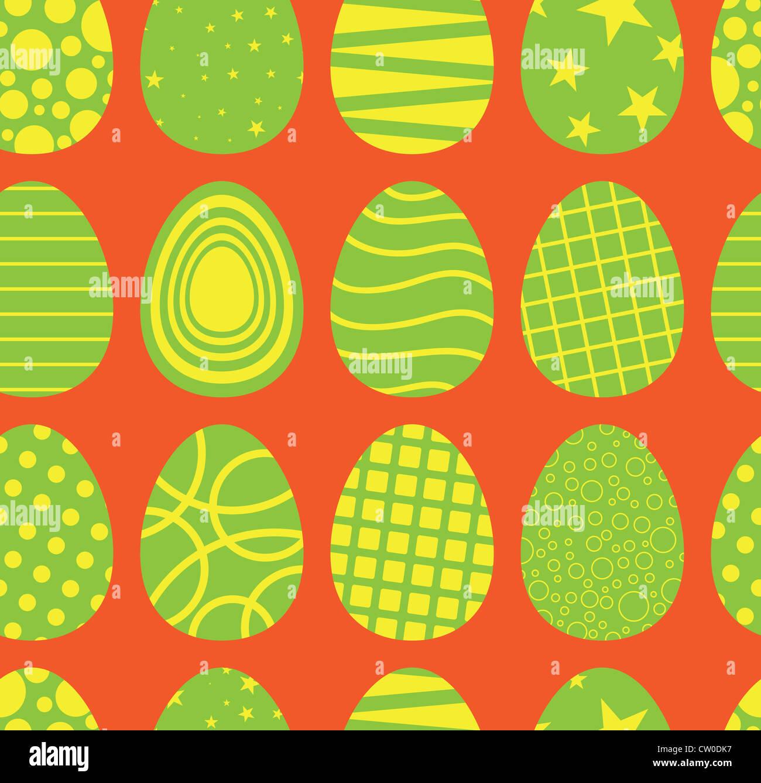 Hintergrund der nahtlose Osterei Muster. Stockbild