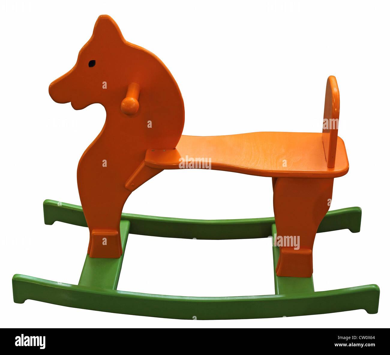 Orange Grün Holz Baby Pferd