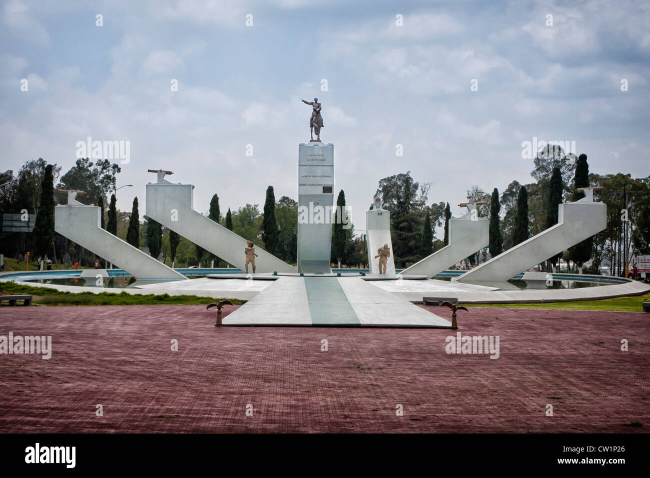 Monumento al General Ignacio Zaragoza in Puebla, Mexiko. Ignacio Zaragoza Seguín war ein General in der mexikanischen Stockbild
