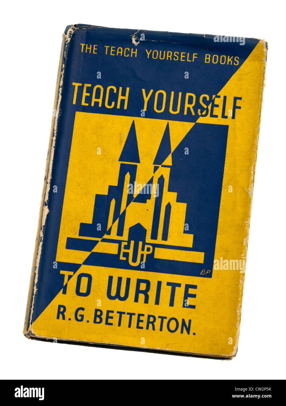 Teach Yourself Buch über das Schreiben Stockbild