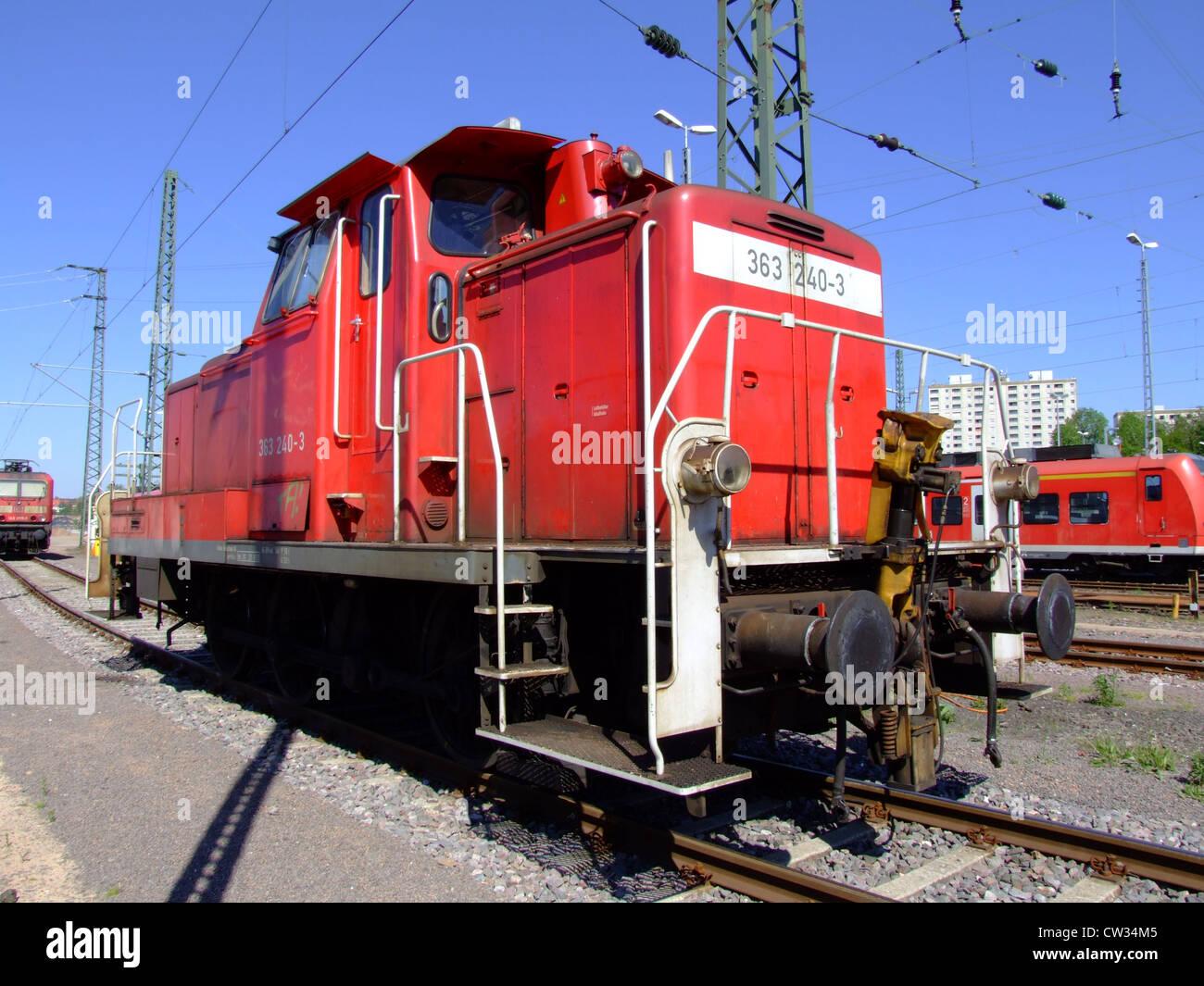 Diesellokomotiven Der Deutschen Bahn Db 363 240 3 Bei Saarbrücken