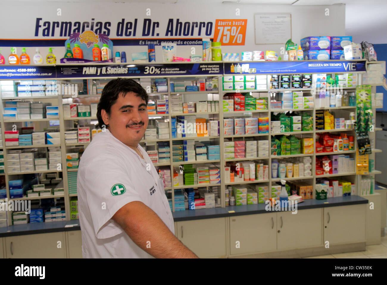 Argentinien, Buenos Aires, Avenida de Mayo, Farmacia del Dr. Ahorro, Rabatt Apotheke, Drogerie, Medikamente, Medizin, Stockfoto