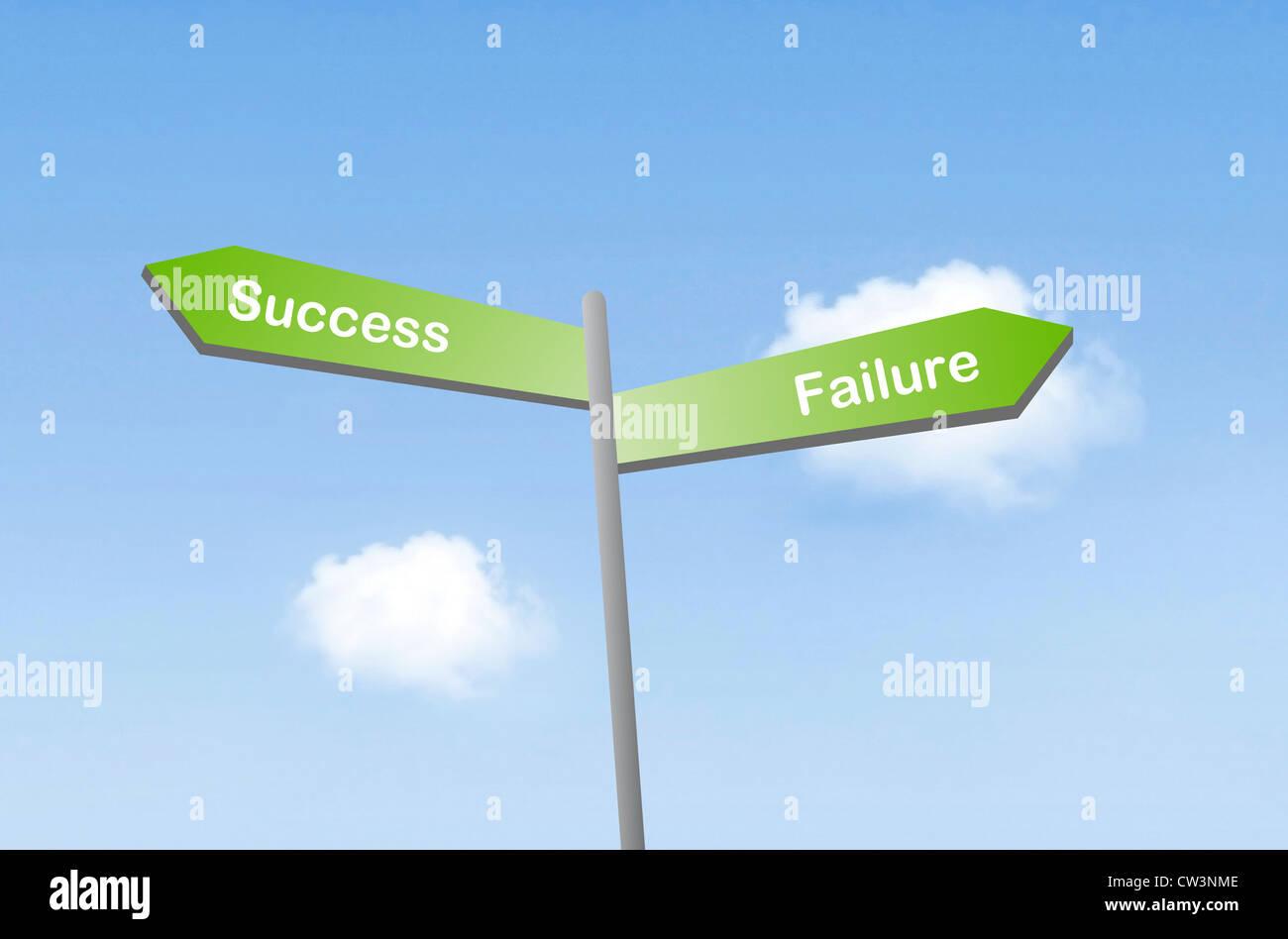 Erfolg oder Misserfolg Stockbild