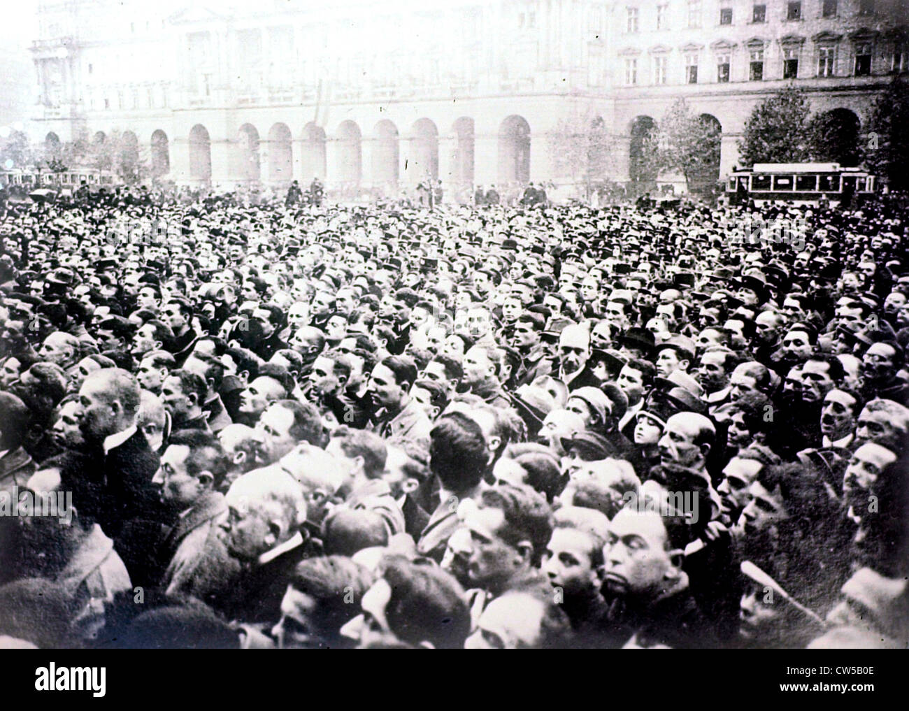 Budapest, Revolution, demonstration Stockbild