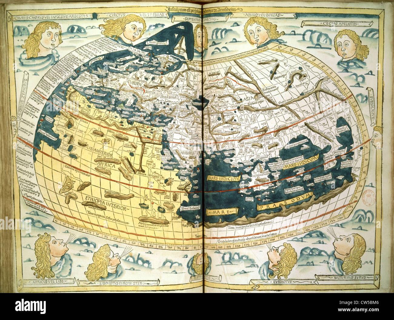 "Ptolemaios, ""Geographie"", 1482 Stockbild"