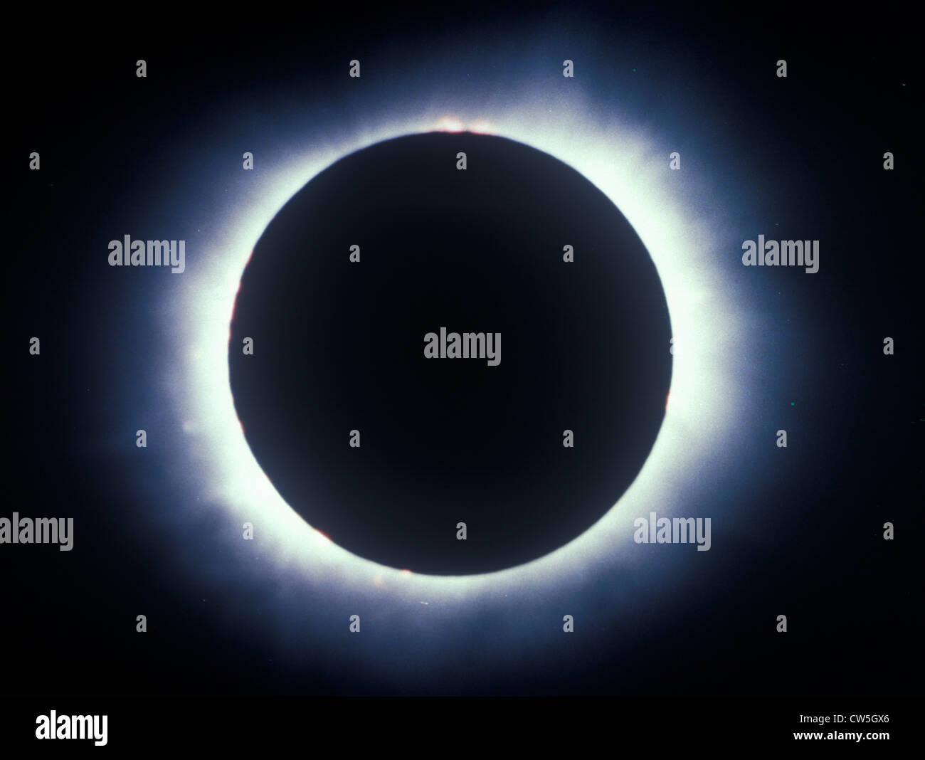 Eine totale Sonnenfinsternis Korona Stockbild