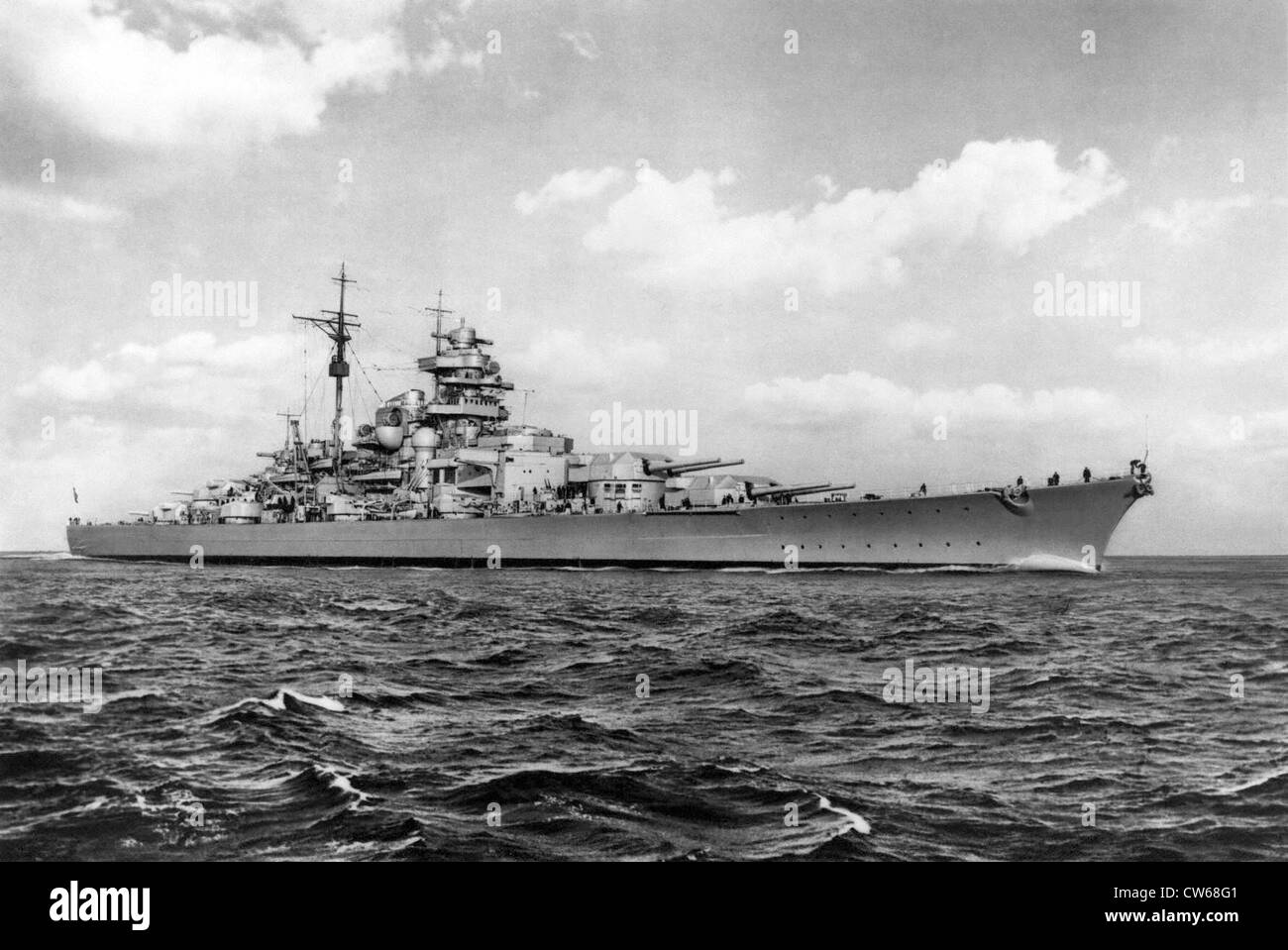 Deutsches Schlachtschiff Bismarck Stockfotos Deutsches