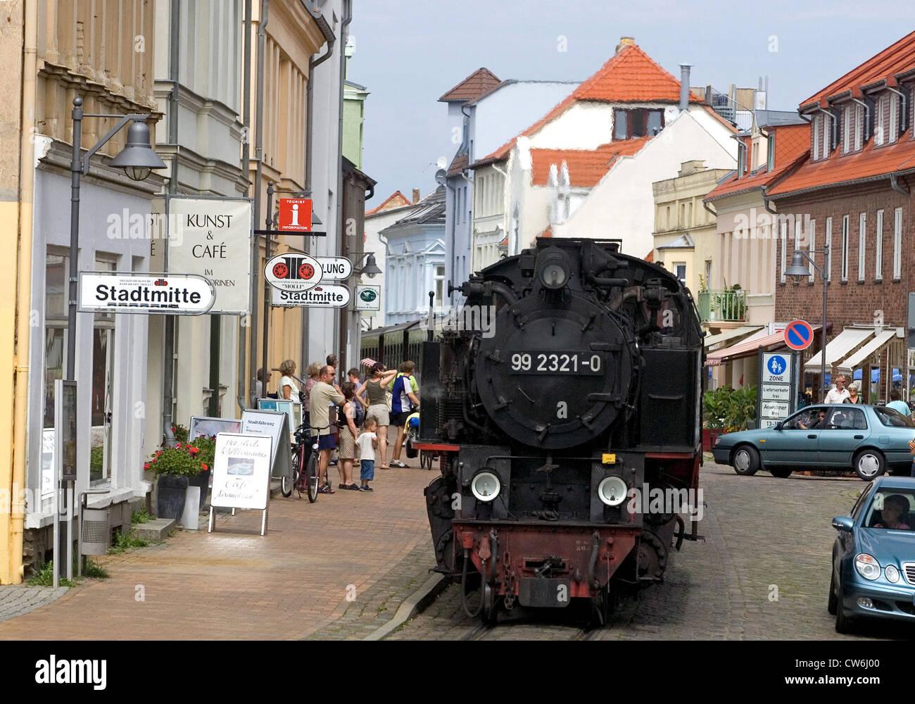 Bad Doberan Baederbahn Molli Bahnhof Innenstadt Stockfoto